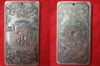 Wholesale Tibet Silver Bullion - collectibles Chinese Old 12 Zodiac - Cow tibet Silver Bullion thanka amulet NE06