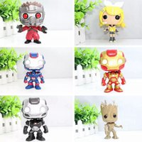Wholesale Vinyl Figures Pop - Funko Pop Iron Man 3 POP Ironman War Machine Vinyl Bobble Head Toys PVC Action Figure toys brinquedos Gray Super Hero