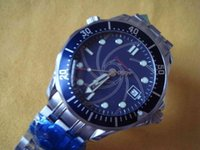 Wholesale free dive watch - Free shipping !ome00 Skyfall 007 James Bond Limited Edition Dive Mens Sports Watch Stainless steel Bracelet Blue Men's Mechanical Watches