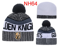 Wholesale Golden Knit - 2017 Newest Ice Hockey Cap Nashville Predators Winter Beanie Hats For Men Knitted Vegas Golden Knights Beanies Warm Caps Drop Shipping
