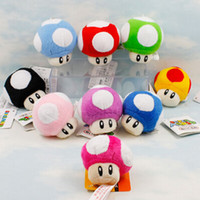 Wholesale Super Mario Mushroom Keychain - Mushroom Plush Doll Soft Toy Keychain Decoration Pendant Super Mario Bros