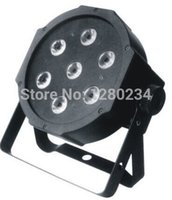 Wholesale Led Disco Cheap - Wholesale-cheap disco light 7pcs*10w 4 in 1 RGBW led flat par can light for dj lights
