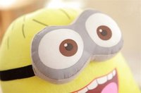 Wholesale Despicable Stewart Toy - Wholesale-50cm Large Despicable Me 2 Toys High Quality Cartoon Movie Minions Dolls Jorge Dave Stewart 3D Eyes Plush Toys Birthday Gifts