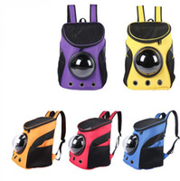 Wholesale pet tote bags - Pet Space Bag Breathable Travel Portable Dog Puppy Cat Both Shoulder Backpack Multi Color 66 64aw C RY