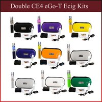 EGo-T doble CE4 E Starter Kits de cigarrillos eGo-T Battery 650/900 / 1100mah CE4 Atomizador Electronic Cigarette Zipper Case vs evod mt3 x6