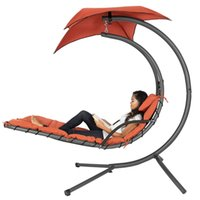 Compra Sedie Pneumatiche-Pendente Chaise Lounger Chair Arco Stand Aria Porch Swing Hammock Canopy (Arancione)