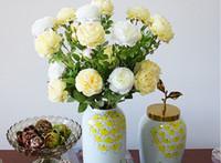 Wholesale Nice Deco - Artificial Caroline Atlantic Peony Rose 3 Flower Heads Nice Looking and Elegant Shape Popular Home AND Wedding Deco Display Flower