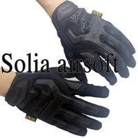 Wholesale-10 coppie di Mechanix M-Pact Tactical Airsoft bici completa Finger Gloves Nero