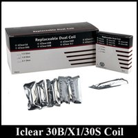 Wholesale Iclear Replacement Coil Head - Authentic Innokin Iclear 16B 16D 30B 30S X1 Coil Replacement BDC Coil Head 1.5 1.8 2.1ohm 100% Original Innokin Itaste
