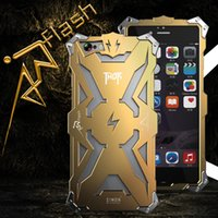 Wholesale iphone flash skin - Aluminum Armor Thor Case Cover The Flash Iron Man Phone Protective Shell Skin Bag for iPhone 6 Plus 6s Plus 7 Plus