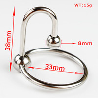Wholesale Cock Rings Wholesales - 20pcs lot Stainless Steel Extreme Glans Ring Men Penis Delay Rings Cockring Adult Sex Toys Glans Penis Plugs Cock Ring