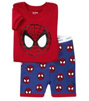 Wholesale Korean Suit Men Green - Children's short suit the Korean version of Spider Man cartoon Home Furnishing suits summer paragraph cotton suit for children