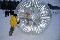 şişirilebilir insan zorb topları toptan satış-Yeni Zelanda Varış 3M * 2M Şişme Flaş Zorb Top Zorbing İnsan Hamster topu Hidro Zorb PVC 1.0MM Çim Zorb Topu Kar Sporları Topu