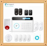 Wholesale Diy Gsm Pstn Alarm - New Wireless GSM+PSTN Alarm System 433Mhz Home Security Protection Like Chuango G5 DIY eTIGER S4 Set