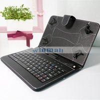 Wholesale Android Tablet Leather - Micro USB Keyboard Case PU Leather Tablet Stand Cover Cases Foldable Case For 7 inch Android Tablet PC Q88 Q8 A33