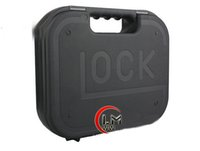 Wholesale Tactical toolbox Framed Locking Mini suitcase lock Hard plastic boxes carrying case for protect fragile Gun Pistol Handgun Black