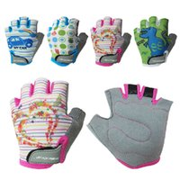 Wholesale Child Cycle Glove - Wholesale-Children Sports Cycling Gloves boys fitness sports gloves girls Gym training Spinning gloves outdoor travel exercise gloves