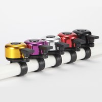 Wholesale Bicycle Bell Horn - New Safety Metal Ring Handlebar Bell Loud Sound for Bike Cycling bicycle bell horn 100pcs