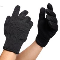 Wholesale Mitten Holders - One Pair Free Shipping Heat Resistant Cotton Glove Cooking Baking BBQ Oven Pot Holder Mitten Kitchen 63