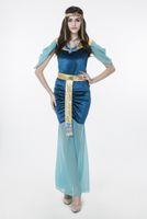 erwachsene indische halloween-kostüme großhandel-2017 neue erwachsene ägyptische göttin blau dress sexy cosplay halloween kostüme club bühnen leistung clothing drop shipping heißer verkauf