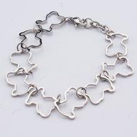 Wholesale Black Onyx Jewelry For Women - TL Unique Designer Stainless Steel Bear Bracelet Cute Bear Shape Chain Bracelets For Women Jewelry Gift