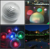 Wholesale Pond Globe - Solar Powered LED Water Floating Globe Light IP65 Waterproof Pond Lamp Christmas Hanging Ball For Wedding Party Garden Decoration