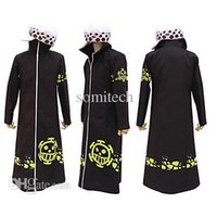 Wholesale Trafalgar Law Cloak - Wholesale-One piece trafalgar law 2 years later cosplay cloak without hat Japanese Anime costumes free shipping