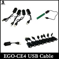 Wholesale Ecig Ce4 K - Ego USB Charger Cable Ego-CE4 Electronic Cigarette USB Charger For Ego-T Ego-K Ego-W Vision Spinner Ecig Battery