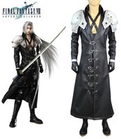 Anime Sephiroth Pas Cher-Final Fantasy VII: Enfants de l'Avent Sephiroth Shin'Ra Hero Uniform Game Cosplay Costume