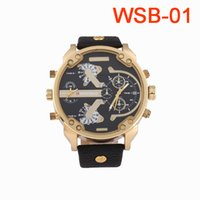 Wholesale Military Leather Watch Bands - 2017 Fashion Man Watch WEISHIBAO Brand Luxury Quartz Leather Band Sports Watches Reloj For Mens Military Clock Montre Free shipping