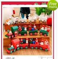 Winter Holiday Train Legno Toy Natale Natale Train Toy per Ornamento Decorazione Decor Giocattoli regalo Puzzle Magic Cube Toy