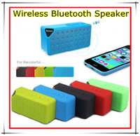 Portable TF X3 chiamata senza fili Bluetooth Speaker Linea FM in funzione per smartphone tablet PC di alta qualità MP3 MP4 10pcs / up