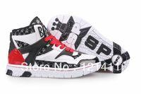 Wholesale Golden Dance Shoes - Wholesale-Free Shipping Korea SPX 2NE1 Endorsement High Cut Women Sneakers High Platform Flat Shoes Hip Hop Dancing Shoes Black+Red+White