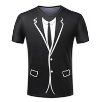 Wholesale Cheap Tuxedos Wholesale - Wholesale-Hot Cheap Men T-shirt Tuxedo T Shirts 3D Print Funny Top Tees Short Sleeve Camisetas Summer Tshirt Plus Size S-4XL