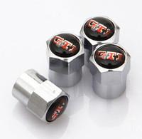 reifenventildeckel gti großhandel-Brand New 4 teile / satz metall persönlichkeit Auto Auto Rad Reifen Reifen Ventile Caps für gti r