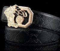 Wholesale mens leather belts sale - Hot sale more Styles Luxury High Quality Medusa Designer Fashion buckle belt mens womens belt for gift