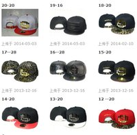 Wholesale Wholesale Leather Strap Hats - New Hot Selling D9 Snapbacks hats leather strap back Hats Snapback Baseball Metal Logo hats caps Mixed Order Size Adjustable High Quality