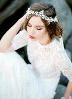 décoration de mariage en perles achat en gros de-2017 Nouveau Mariage Mariage Bridal Hair Bands Perles De Luxe Perles Cristal Beaded Bijoux Décoration Accessoires Livraison gratuite CPA512