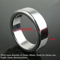 Wholesale Mens Condom - 44mm, 40mm, 38mm Ring Size Stainless Steel Cock Ball penis condom Dick sleeve Delay Ring Metal Cock Ring mens sex Product