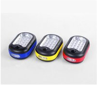 Wholesale 27 Led Work Light - Drop shipping Multifunctional 27 LED Super Bright Compact Home Work Light Bivouac Camping Hiking Tent Lamp Lantern Flashlight With Hook