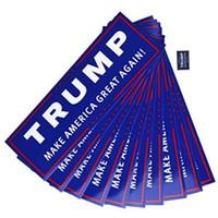 Wholesale Film Bumper - Decal Accessories Car Bumper Stickers With Lettering Donald Trump President Campaign Window Film Sticker Self Adhesive 10PC  Lot c278