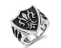 Wholesale Titanium Cat Ring - J404 the European and American fashion personality cat kaka cross lines ICONS necessary Titanium steel ring.healthy ring.high quality.