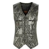 Wholesale Waistcoat For Men Styles - Fall-Winter Fall Fashion European Style Plus Size 3XL Mens Fleece Printed Sleevelss Warm Suit Vest , Waistcoat For Man , Male Vests