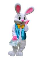 bunny adult toptan satış-PROFESYONEL PASKALYA BUNNY MASCOT KOSTÜM Bugs Tavşan Tavşan Yetişkin Fantezi Elbise Karikatür Takım Elbise