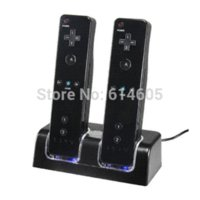 Black Charger Dock Station + 2 Paquetes de baterías para Nintendo Wii Remote Controller pack white pack women