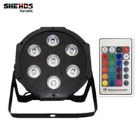 Wholesale Auto Noise - Wireless remote control LED Par 7x12W RGBW 4IN1 LED Wash Light Stage Uplighting Party lightsNo Noise Remote control Free shipping