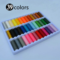 Wholesale Sewing Thread Roll - New Arrival 39 colors Rolls Mixed Polyester Spools Sewing Thread Handmade DIY Apparel Accessories
