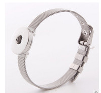 Wholesale 18mm Wristband - new stainless steel 18mm Noosa Button DIY bracelet jewelry accessories snap button giner interchangeable button watch wristband bracelet