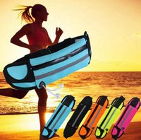 Waterproof Sport Runner Cintura Bum Bag Running Jogging Belt Pouch Zip Fanny Pack Pacotes de fitness OOA3757
