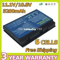 Wholesale Extensa 5235 - Lowest price 5200mah 10.8v laptop battery for acer Extensa 5220 5620Z 5630 5630G 7220 7620 7620G 5235 Series TM00741 TM00751 GRAPE32 6cell